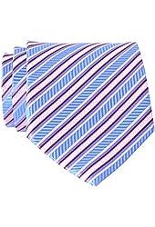 QBSM Various Color Stripes Styles Woven Microfiber Men's Tie NeckTies