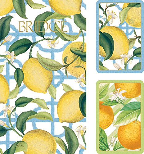 Caspari Entertaining with Citrus Bridge Jumbo Type Gift Set (2-Score Pads) - 1
