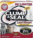 Arm & Hammer Clump and Seal Lightweight Multi-Cat Litter, 15-Pound