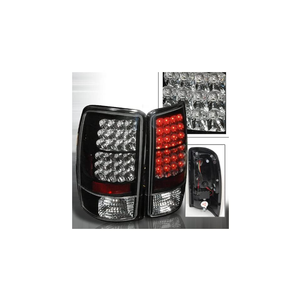00 01 02 03 04 05 06 Chevy Tahoe, GMC Yukon, Yukon XL, Yukon Denali LED Tail Lights (NOT for barn door)   Black (Pair)