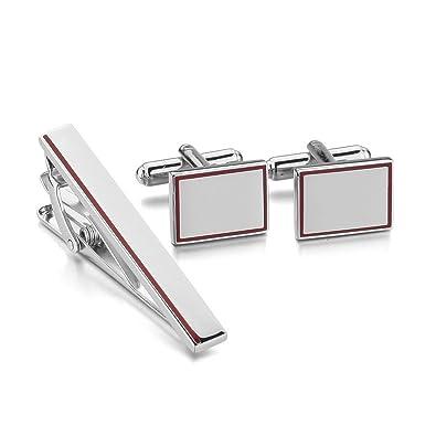 munkimix rhodiniert manschettenkn pfe amp krawatte binden clip bar. Black Bedroom Furniture Sets. Home Design Ideas
