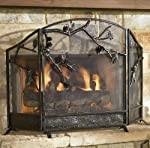 Pinecone Fireplace Screen from Black Forest Decor