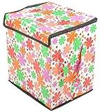 Azaan Decor Polyester Foldable Laundry Basket (33 cm x 45 cm x 40 cm, AD_515)