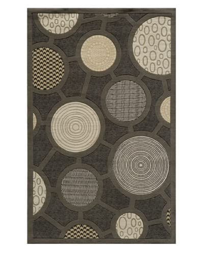 Momeni Graphic Rug, Charcoal, 2' 6 x 8' Runner