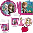 Disney Frozen The Ice Queen 36 Piece Party Set with Paper Plates, Serviettes and Cups for Children's Birthday Parties Princess Anna Theme