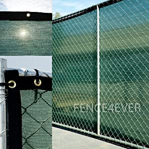 6 39 x50 39 dark green fence privacy screen for Cloth privacy screen