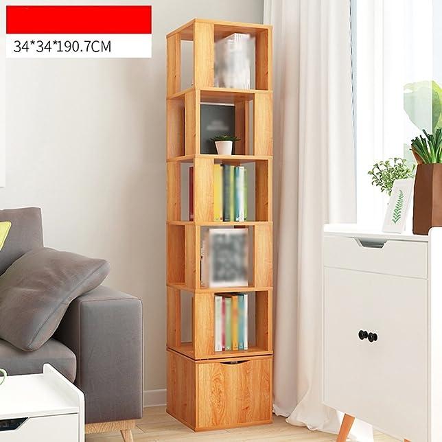 XIAOXIAO La libreria multifunzione multilivello può ruotare di 3 colori Facile da spostare ( Colore : 02 )