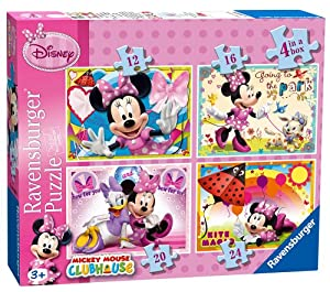 Ravensburger 7255 - Puzzles con diseño de Minnie Mouse (4 unidades)