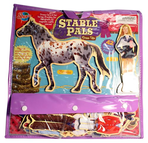 Stable Pals Wooden Creative Dress-Up Doll, Horse and Magnetic Accessory Set/Kit
