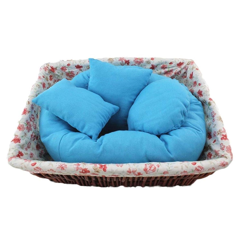 4 PC Newborn Photography Basket Filler Wheat Donut Posing Props Baby Pillow