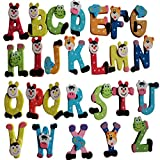 GBSELL 26pcs Alphabet A-Z Wooden Magnets Child Educational Cartoon Toy