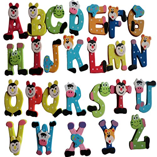 GBSELL 26pcs Alphabet A-Z Wooden Magnets Child Educational Cartoon Toy (Toys For 5 Year Old Boys compare prices)