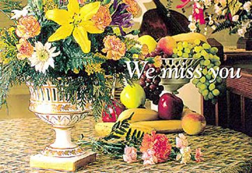 We Miss You Flowers Postcard (Package of 25)