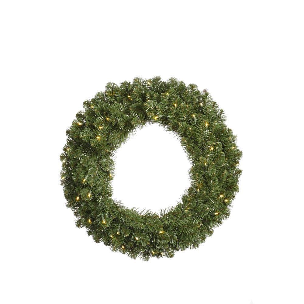 12' Pre-Lit Grand Teton Artificial Christmas Wreath