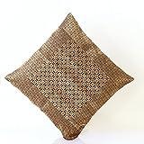 Jodhaa Cushion Cover With Brocade In Black/Gold