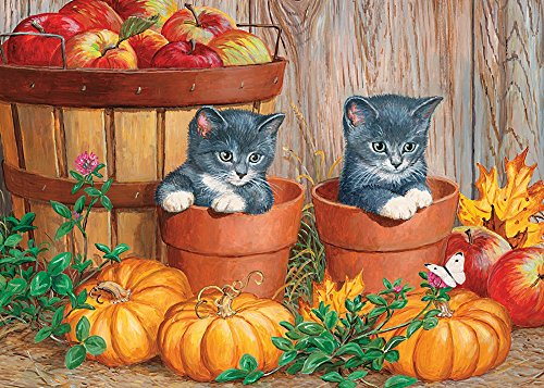 Cobble Hill Little Pumpkins Jigsaw Puzzle, 35-Piece