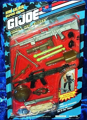 G.I. Joe Hall of Fame High Caliber Weapons Arsenal Accessory Set - 1