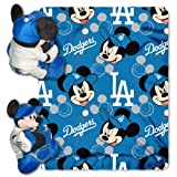 MLB Los Angeles Dodgers Mickey Mouse Pillow with Fleece Throw Blanket Set