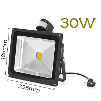 30W RGB LED Flutlicht Fluter Strahler Warmweiss Flutlichtstrahler  Wasserdicht