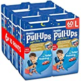Huggies Pull-Ups Night-Time for Boys, Large, 10 Pants for Toilet Training (Pack of 6, Total 60 Pants)