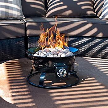 Sunward Patio Portable Outdoor 58,000 BTU Propane Fire Pit / 19
