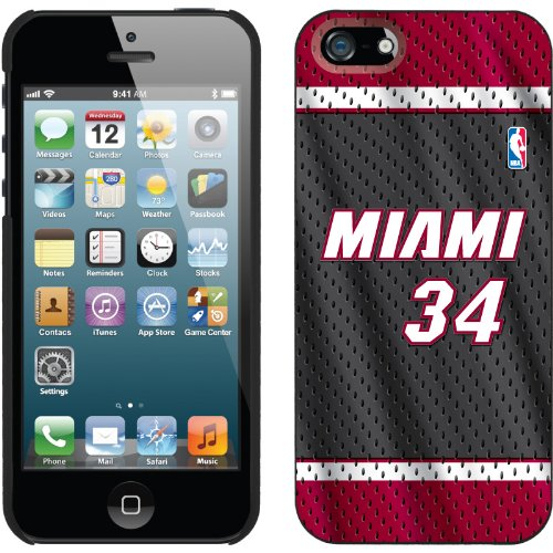 Best Price Ray Allen - Road Jersey Front design on a Black iPhone 5s / 5 Thinshield Snap-On Case by Coveroo