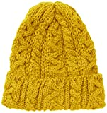 (ハイランド2000)Highland2000 ニットキャップ British Wool Cable Bobcap HL-2 Yellow Yellow F