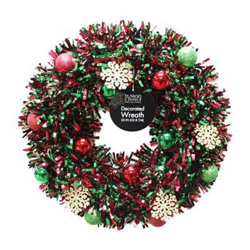 dyno-seasonal-solutions-6001DW20-1-20-Inch-Sizzle-Decorated-Tinsel-Wreath