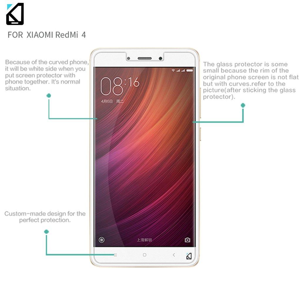 Buy Scratch Proof Kaira Xiaomi Redmi 4 Screen Protector, Premium Oil  Resistant Coated Tempered Glass Screen Protector Film Guard For Xiaomi  Redmi 4 At Best