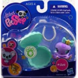 Littlest Pet Shop Purple Octopus (#1309) With Clam And Pearl Necklace Action Figure