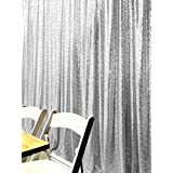 ShiDianYi 4FTX6FT-Silver-SEQUIN PHOTO BACKDROP, Wedding Photo Booth,Photography Background (Silver) (Color: Silver, Tamaño: 4FTx6FT)