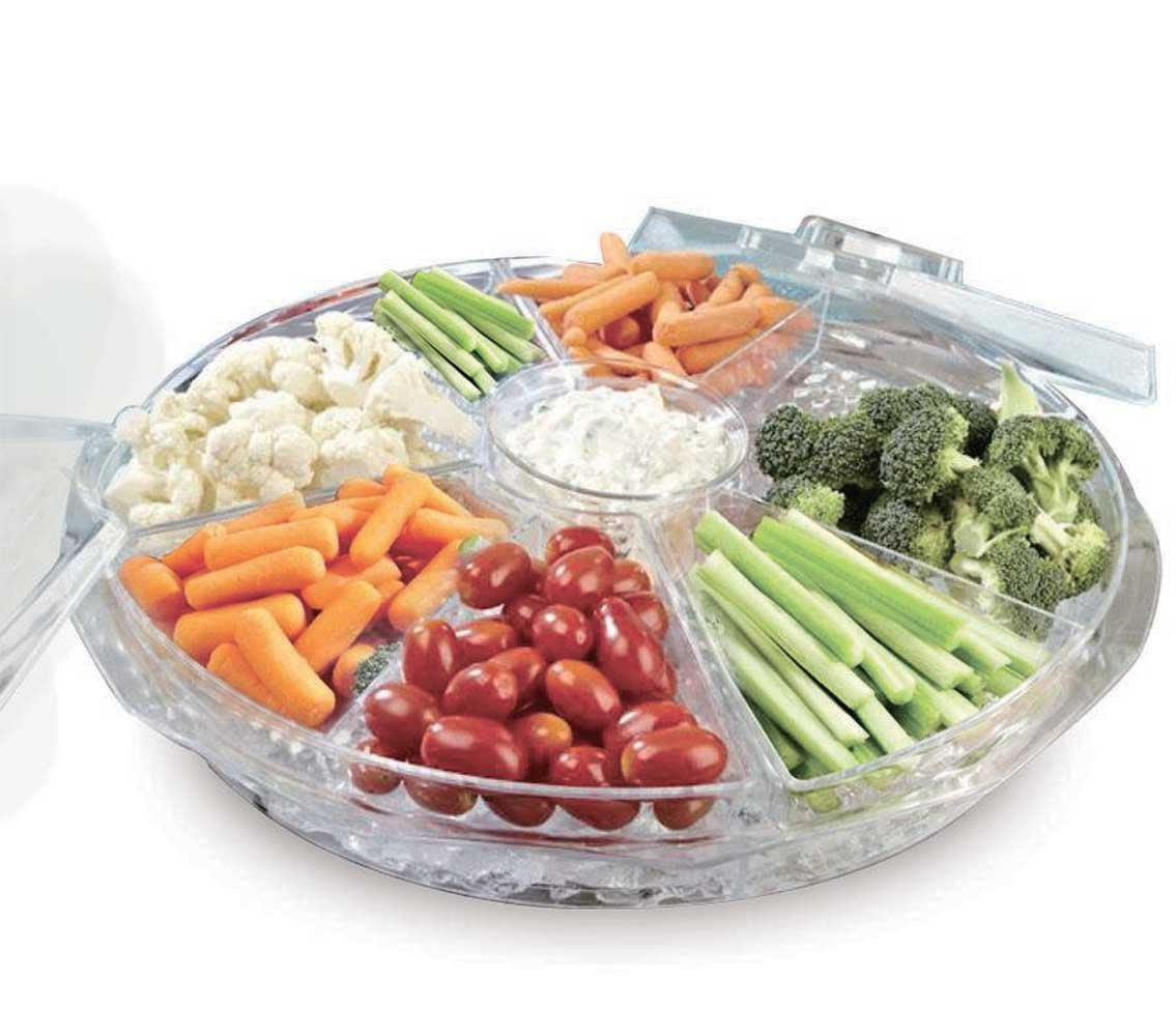 Frigidaire Chilled 8 Section Appetizer Tray