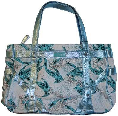 Women ed hardy purse handbag suzanne blue handbags jpg 395x389 Ed hardy  purses and bags 97cf313506de4