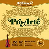 D'Addario Pro-Arte 1/2 Scale Medium Tension Violin String Set