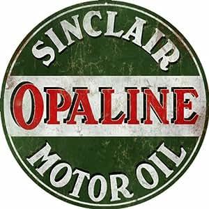 Vintage Looking Sinclair Opaline Motor Oil Gas Station Sign Garage Art
