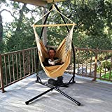 Hammock Steel C-Frame Stand Air Porch Swing C Frame Cotton Rope Chair Cradle