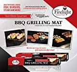 BBQ Grill Mat (Set of 2) - Super Strong, Twice As Thick As Other Mats - Turn Any Grill Into a Clean Non-stick Cooking Surface - No More Food Falling Through the Cracks - Dishwasher Safe and Reusable - Reduce Flare Ups - Cook Healthier Without Using Oils or Cooking Sprays