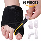 Bunion Corrector Bunion Relief Kit (Bunion Splints,Gel Toe Protect Separator Sleeves&Toe Separators) for Hallux Valgus-Day/Night Time Support for Men&Women (Color: Ventilate, Tamaño: S-M ( Foot Circum. < 9