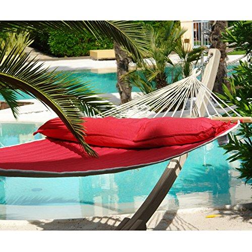 Hängematten Set Rio Grande mit American Hammock Lifestyle Set rot-beige mit Kissen wetterfest bis 200 kg online kaufen