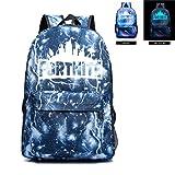 Fortnite Backpack Battle Royale School Bag Luminous Backpack for Teen Boys and Girls Travel Hiking (Color: Lightning Blue, Tamaño: 12.2*7.0*17.7Inch)