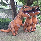 Adult TRex Jurassic World Inflatable Costume Dinosaur Blow Up Halloween Outfit