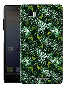 "Peacock Feathers Pattern Printed Designer Mobile Back Cover For ""Lenovo Vibe P1"" By Humor Gang (3D, Matte Finish, Premium Quality, Protective Snap On Slim Hard Phone Case, Multi Color)"