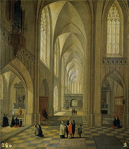 'Francken III Frans Neefs Louis Interior De Una Iglesia 1646 ' Oil Painting, 18 X 21 Inch / 46 X 53 Cm ,printed On Polyster Canvas ,this Vivid Art Decorative Canvas Prints Is Perfectly Suitalbe For Kitchen Decoration And Home Artwork And Gifts