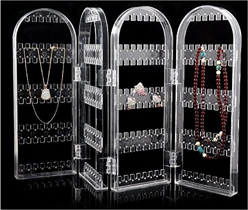 Anleolife Acrylic DIY Storage Box For Cosmetics Earring Organizer/Cosmetic Organizer Storage Box For Jewelries 60 Holes