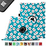Fintie Apple iPad Air Case - 360 Degree Rotating Stand Case Cover with Auto Sleep / Wake Feature for iPad Air / iPad 5 (5th Generation) - Floral Blue