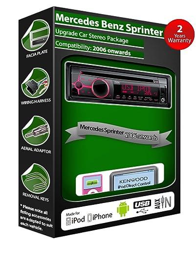 Mercedes Sprinter de lecteur CD et stéréo de voiture radio Clarion jeu USB pour iPod, iPhone, Android