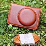 Generic Brown PU Leather Bag Case W/ Strap For Canon S90 S95 SX120 SX150 SX200 SX210 SX220 SX230 SX240 SX260