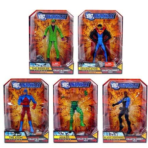 Buy Low Price Mattel DC UNIVERSE CLASSICS WAVE 5 (COMPLETE SET OF 5) METALLO SERIES THE RIDDLER, ATOM, AMAZO, BLACK LIGHTNING, ERADICATOR Figure (B001MKG434)