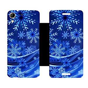 Skintice Designer Flip Cover with hi-res printed Vinyl sticker wrap-around for HTC Desire 728G