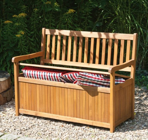 Siena garden 800520 melton banco madera de acacia y - Banco baul madera ...